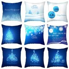Nanacoba темно синие рождественские Подушки чехол украшение