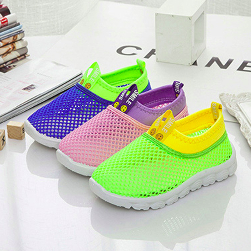 Candy Color Summer Kids Shoes Cut-outs Breathable Light Children Sports Shoes Boys Girls Loafers Mesh Soft Sneakers Footwear New