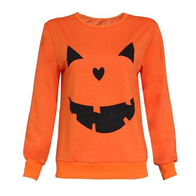 halloween printed pumpkin hoodie vintage print pullovers womens hoodies plus size sweatshirt oversized woman in Hoodies amp Sweatshirts from Women 39 s Clothing