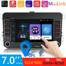 7 inch Car Video MP3 Player For VW Android 10.0 Car Radio Multimedia Video Player Bluetooth 4.0 GPS Navigation WiFi Auto Stereo