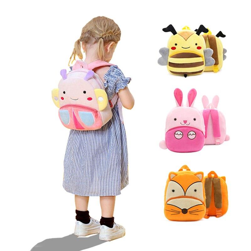 Kids Backpacks Plush Cartoon Animal Child kindergarten Schoolbag Storage Bag Boy Girl Garden Bag Children Travel Backpack|Baby&Kids Bags| - AliExpress