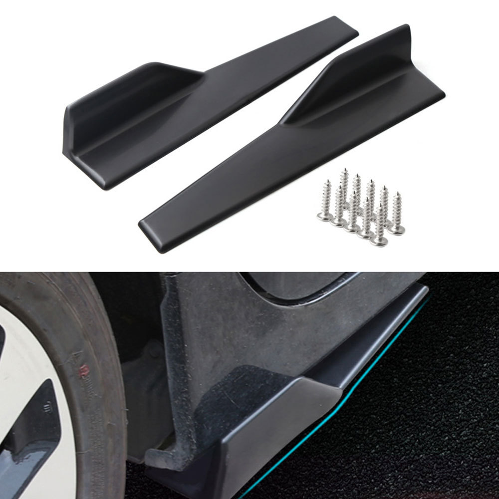 Pair 75cm Car Body Side Skirts Strakes Extension Splitters Moulding Trim