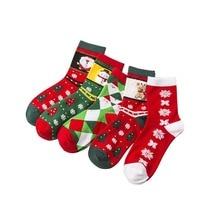 Christmas Stocks women Sock Santa Claus Candy Gift Bag socks Funny cute Socks chaussette