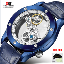 TEVISE Men Watches Top Brand Luxury Skel