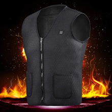 Men Women Outdoor USB Infrared Heating Vest Jacket Winter Flexible Electric Thermal Clothing Waistcoat Fishing Hiking Dropship cheap Solid Sleeveless Flannel Breathable Fits true to size take your normal size Heated Outdoor Jacket Skiing Winter Jacket