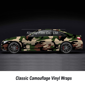 green Camouflage Car Vinyl Wrap Film Roll Car Sticker Foil Sticker Bubble Free 5/10/15/20/25/30m Camouflage Vinyl Film Air Drain