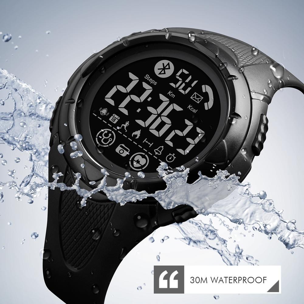 SKMEI Bluetooth Smart Watch Men Sport Pedometer Waterproof Call Reminder Clock LED Digital SmartWatch For Ios Android Phone