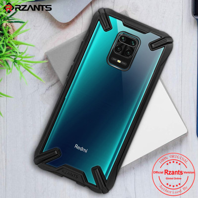 Original Rzants for Xiaomi Redmi Note 9 Pro Max Redmi Note 9S 9 Pro Military Grade Protection Transparent Case shockproof Bumper