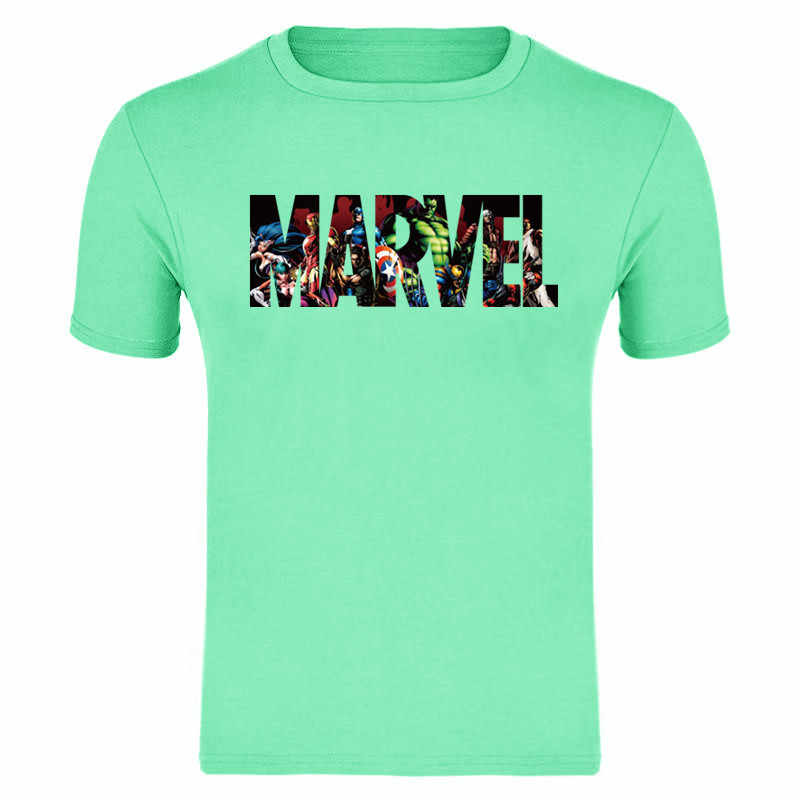2019 Nieuwe Fashion Marvel Korte Mouw T-shirt Mannen Superheld print t-shirt O-hals comic Marvel shirts tops mannen kleding ademende