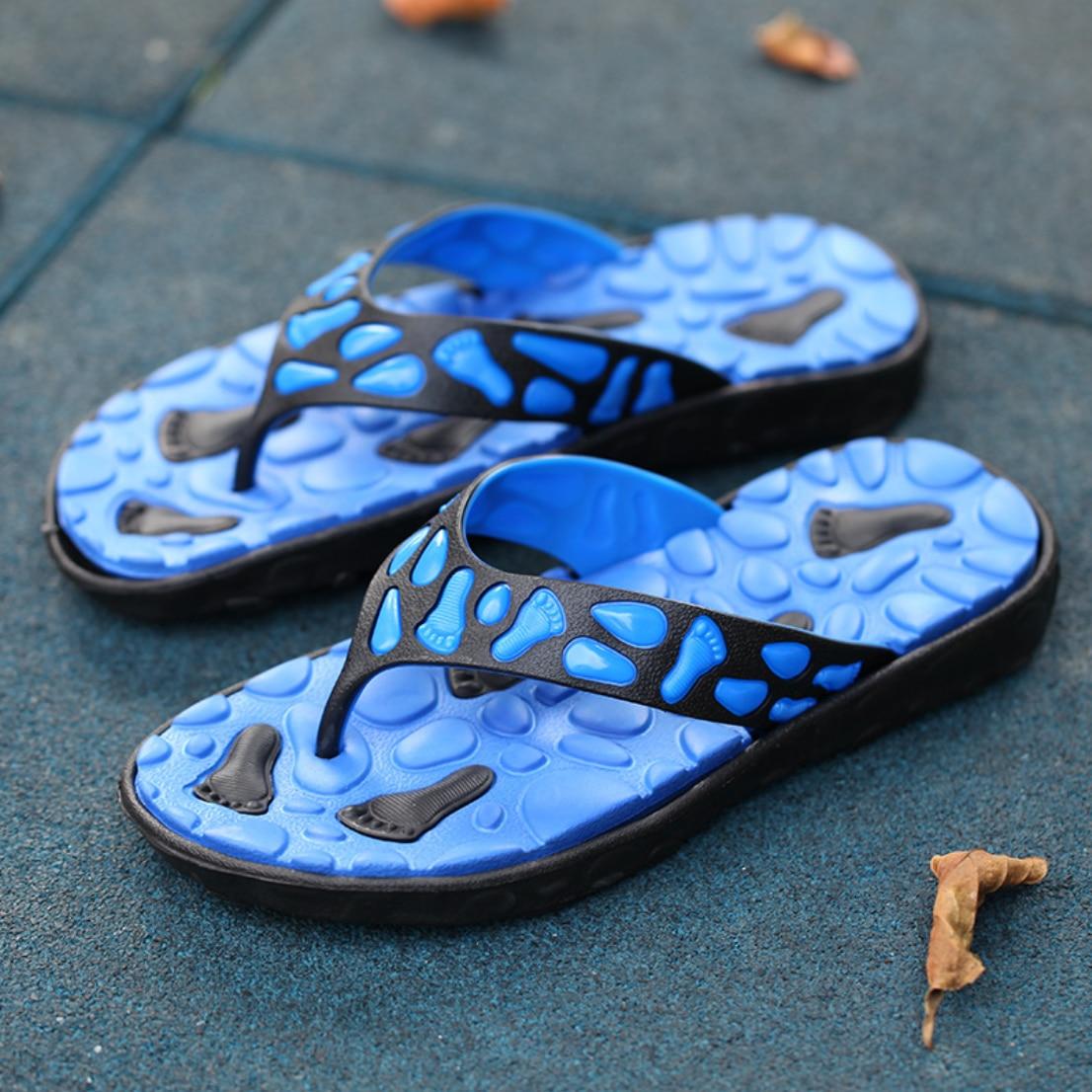 2020 Summer Men's Shoes EVA Sandals Flip Flops Comfortable Non-slip Beach Angle Slippers Flat Slippers Massage Shoes N