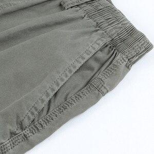 Image 5 - Pantalon Cargo pour hommes, poches 2020, grande taille 5XL, respirant, grande taille, été, droit, Long, collection décontracté