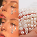 3D глаза, лицо, временная татуировка, белый жемчуг, точки, красота, сделай сам, боди-арт, украшения, фестиваль, макияж, инструменты для ногтей, с...