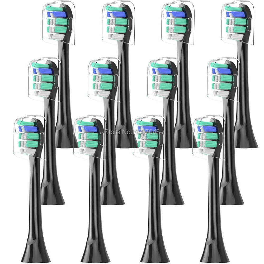12PCS Brush Heads For Philips Sonicare HX9024/23, Fits ProResults, FlexCare, Healthy White, Platinum, EasyClean, DiamondClean