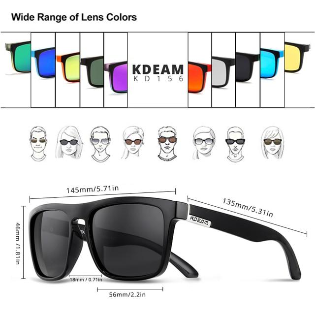 Fashion Guy's Sun Glasses From KDEAM Polarized Sunglasses Men Classic Design All-Fit Mirror Sunglass With Brand Box CE 4