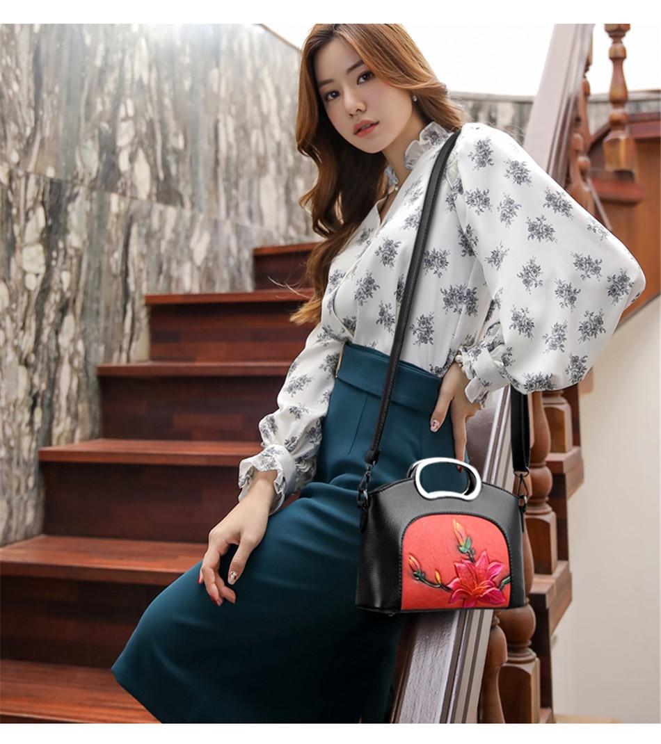 2019 luxo flores bolsas femininas em relevo