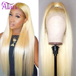 28 30 Inch 613 Blonde Transparent Lace Frontal Wigs 13X4 Straight Lace Front Wigs Peruvian Virgin Hair Wigs Glueless Lace Wigs