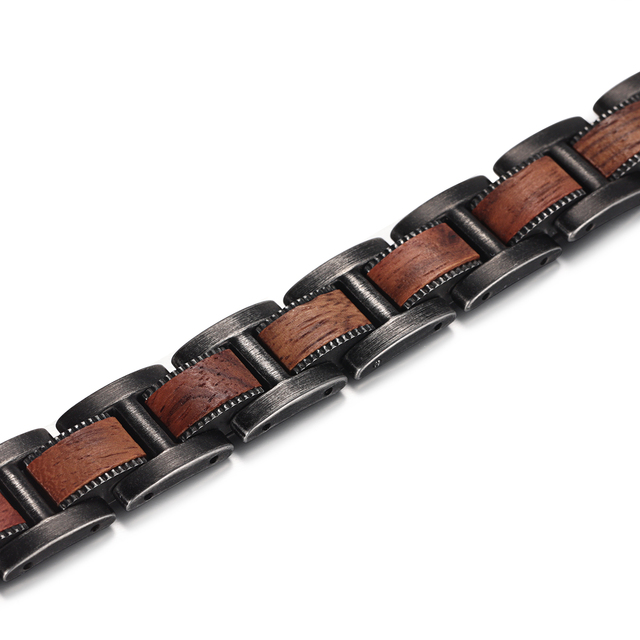Hca73b0fa2de64063bcdd6b1653ded6bbM - Men's Wrist Bracelet Zebrawood Magnetic Health Care