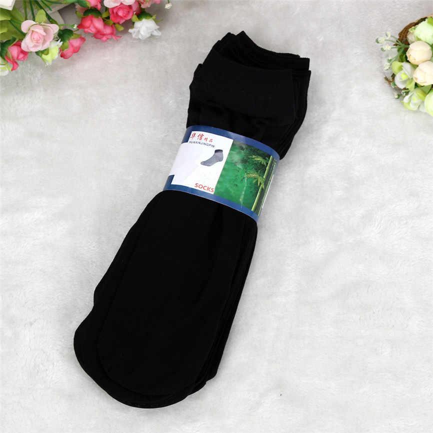 حديثا تصميم 10 Pairs الخيزران الألياف رقيقة جدا مرنة حريري قصير الحرير جوارب الرجال الجوارب حريري انخفاض الشحن