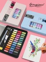 36 цветов Высокое качество твердый пигмент акварельные краски набор с водным цветом портативная Кисть ручка для рисования товары для рукоде...
