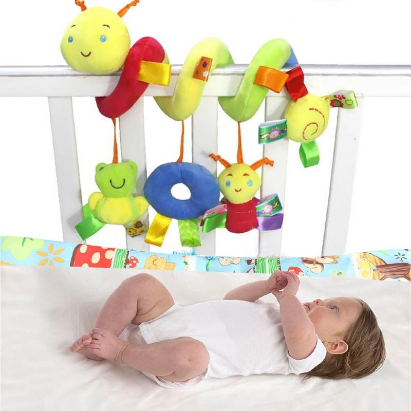 Baby Plush Soft Bed Stroller Car Hanging Rattle Not Dazzling Printing Environmental Protection Colorful Labels Infant Crib Toy