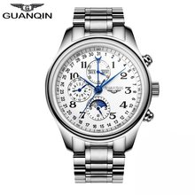Men Mechanical Sapphire Watches GUANQIN GQ20022 Luxury Top Brand Waterproof Automatic Wristwatch 316L Stainless Steel Leather(China)