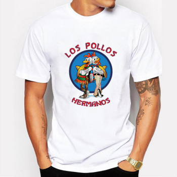 Men's Fashion Breaking Bad Shirt 2015 LOS POLLOS Hermanos T Shirt Chicken Brothers Short Sleeve Tee Hipster Hot Sale Tops