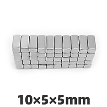 AGMA 20pcs 10x5x5mm Neodymium Magnet Block Super Strong  rare earth Magnets Rectangular 10 * 5 * 5mm 1pcs block 45x45x20mm n52 super strong rare earth magnets neodymium magnet high quality
