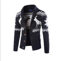 Sweter męski jesień nowy ciepły kołnierz swetry swetry w stylu casual tanie tanio LingJiao Pai Pojedyncze piersi Cienka wełna Skręcić w dół kołnierz Na co dzień L1-4 Kieszenie Mieszkanie dzianiny