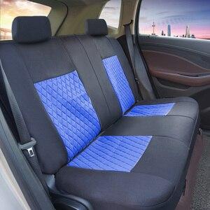Image 4 - ROWNFUR ポリエステル車のシートカバーユニバーサルフィットほとんどの車の座席プロテクター四季車カバーのカバーインテリアスタイリング 1 セット