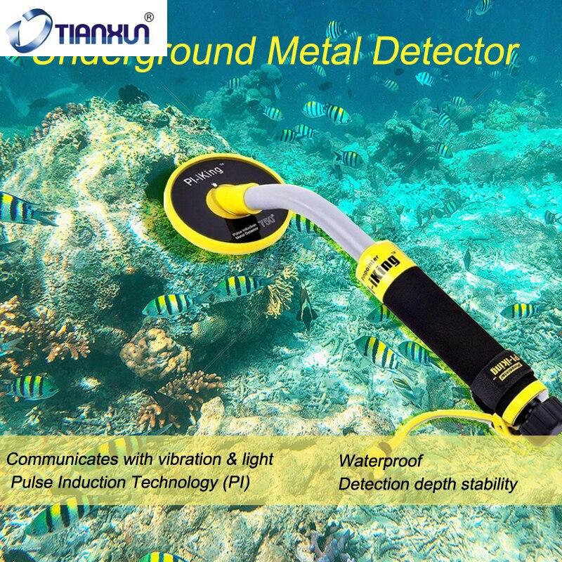 Подводный металлоискатель TIANXUN, 30 м, PI-iking 750 Pinpointer, индукционный вибратор, точечный детектор со светодиодный светильник кой при обнаружении