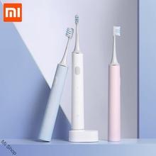 מקורי Xiaomi Mijia T500 חכם חשמלי מברשת שיניים נטענת קולי הלבנת שן מברשת אישית ניקוי מצב