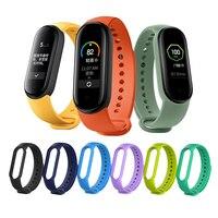 Strap Für Xiaomi Mi Band 5 4 3 Nfc Silikon Armband Armband Ersatz Für Xiaomi Band 4 MiBand 5 4 3 handgelenk Farbe TPU Gurt