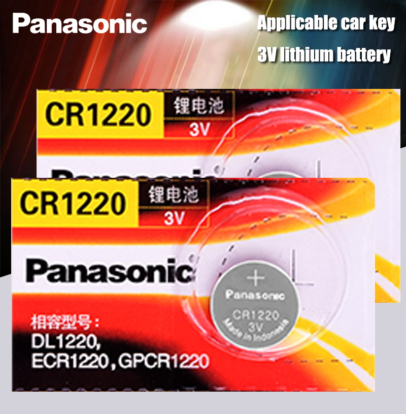 2 TEILE/LOS Original Panasonic CR1220 Knopfzellen CR 1220 3V Lithium-Münze Batterie BR1220 DL1220 ECR1220 LM1220
