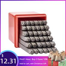 36 ピース/箱鉄金属シールスタンプセット含む文字a〜z番号 0 〜 8 とアンパサンド & 黒金属鋼タグペンダントスタンプツール