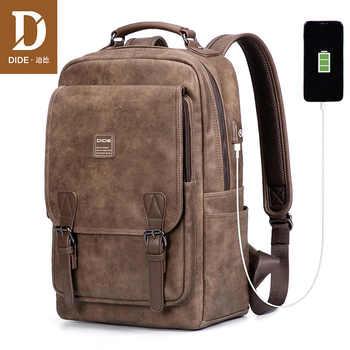 DIDE USB Charging Port laptop backpack men Mochila Vintage Casual Travel backpack Bag Male Preppy Schoolbag waterproof 15 inch - DISCOUNT ITEM  50% OFF All Category