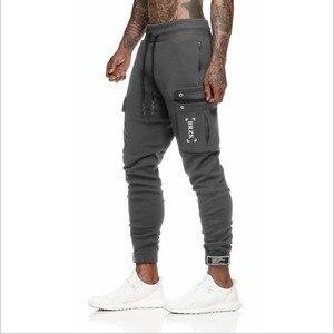 Простые Стильные мужские осенние повседневные спортивные облегающие брюки для бега, спортивные длинные брюки для бега, мужские повседневн...