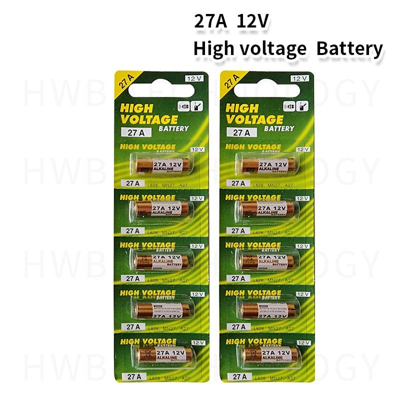 10 шт./лот 12 В 27A A27 Будильник-удаленные щелочные аккумуляторные батареи 27AE 27MN большая емкость автомобильный пульт дистанционного управления ...