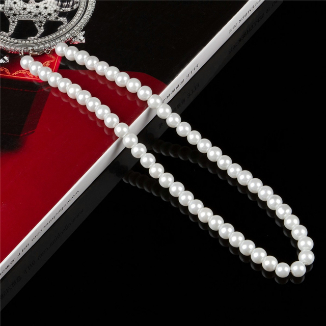 8mm sim. pearl necklace 4