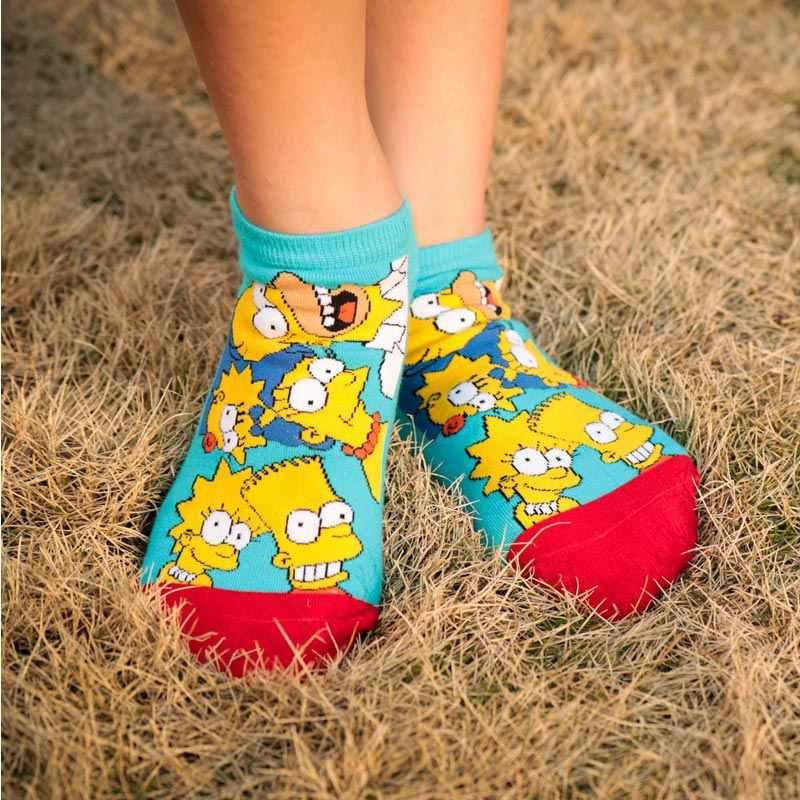 2020 ใหม่มาถึงของผู้หญิงHappyถุงเท้าพิมพ์การ์ตูนSIMPSONSครอบครัวถุงเท้าArt Novelty Men Breathableถุงเท้าที่มองไม่เห็น