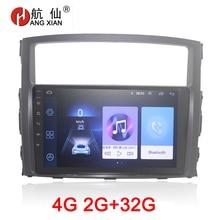 HANG XIAN 2din car radio for Mitsubishi Pajerao V93 V97 2006-2014 car dvd player gps navi car accessory with 2G+32G 4G internet