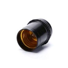 Adaptador de Bases E27 3/4A 250V portalámparas rosca Edison colgante tapa enchufe gran oferta 1 Uds lámpara negra Vintage
