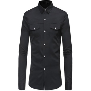 Image 3 - Plus size mens long sleeve shirt with lapel collar in autumn 2019