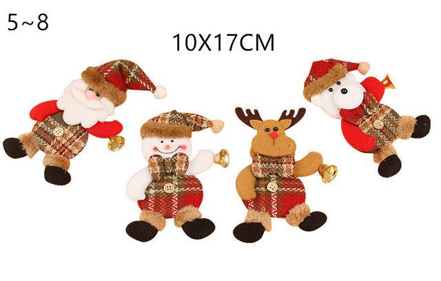New Year 2020 Cute Santa Claus/Snowman/Angel Christmas Dolls Noel Christmas Tree Decoration for Home Xmas Navidad 2019 Kids Gift 18