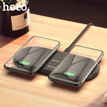 HOCO – chargeur rapide double sans fil 2 en 1 pour Airpods Pro, pour iPhone X XR XS 11 Pro Max Samsung S10 Xiaomi QI, charge à Induction