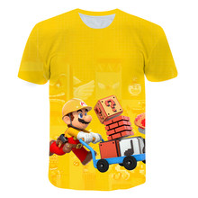 Summer Cartoon Game Anime Super Mario T-shirt Casual Street Top Boy Girl Fashion 3D Printing T-shirt Cool Short Sleeve