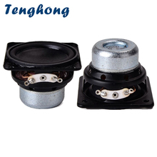 Tenghong 2 pièces 45MM étanche haut parleur 18 Core 4Ohm 10W bord en caoutchouc gamme complète haut parleur unité carrée Bluetooth haut parleurs