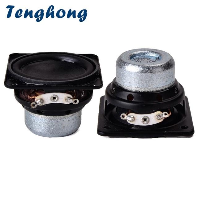 Tenghong 2 stücke 45MM Wasserdichte Audio Lautsprecher 18 Core 4Ohm 10W Gummi Rand Vollen Palette Lautsprecher Einheit Platz bluetooth Lautsprecher