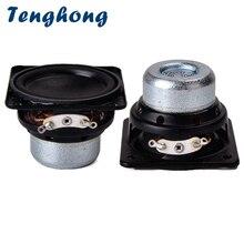 Tenghong altavoz de Audio resistente al agua, 2 uds., 45MM, 18 núcleos, 4ohm, 10W, borde de goma, gama completa, altavoces de Bluetooth cuadrados