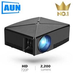 C80UP AUN MINI Projetor, Resolução 1280x720 P, WI-FI Android Projetor, LED Portátil Beamer para 4 3D K Home Cinema, Opcional C80