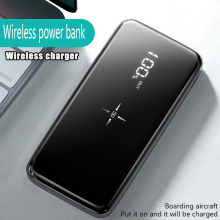 Wireless Power Bank Mirror Screen Portable 20000mah Dual USB Powerbank Fast Charging External Battery Charger for iPhone Samsung wireless power bank mirror screen portable 20000mah dual usb powerbank fast charging external battery charger for iphone samsung